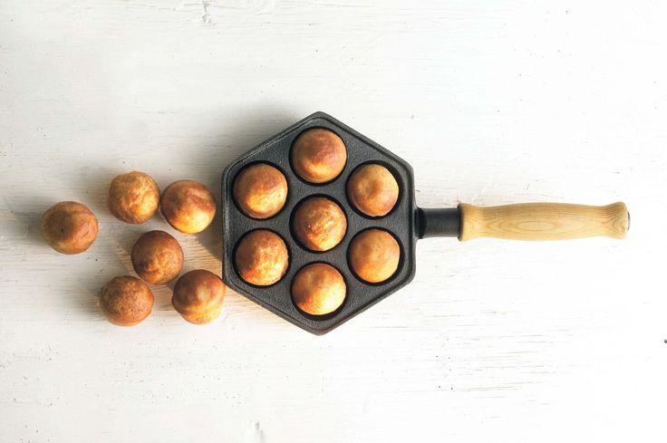 Donutpfanne (Donut Pan) aus Schweden, hergestellt aus  Gusseisen, entworfe  von Gense. Geeignet für die Herstellung von 7 Donuts.