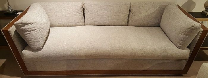 Lovely 546 Sofa By Burton James  Impact Flurry Fabric @ Heritage Furniture Outlet