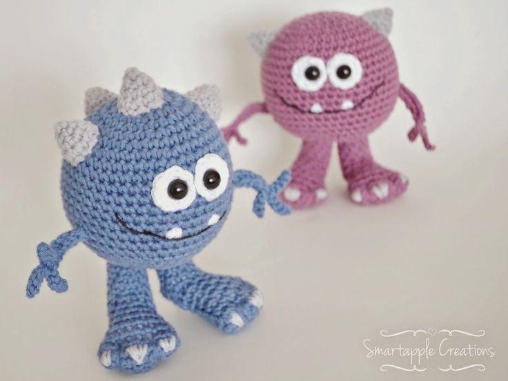 Amigurumi Monsters Inc : Crochet monsters amigurumi monster stuffed monster toy monster