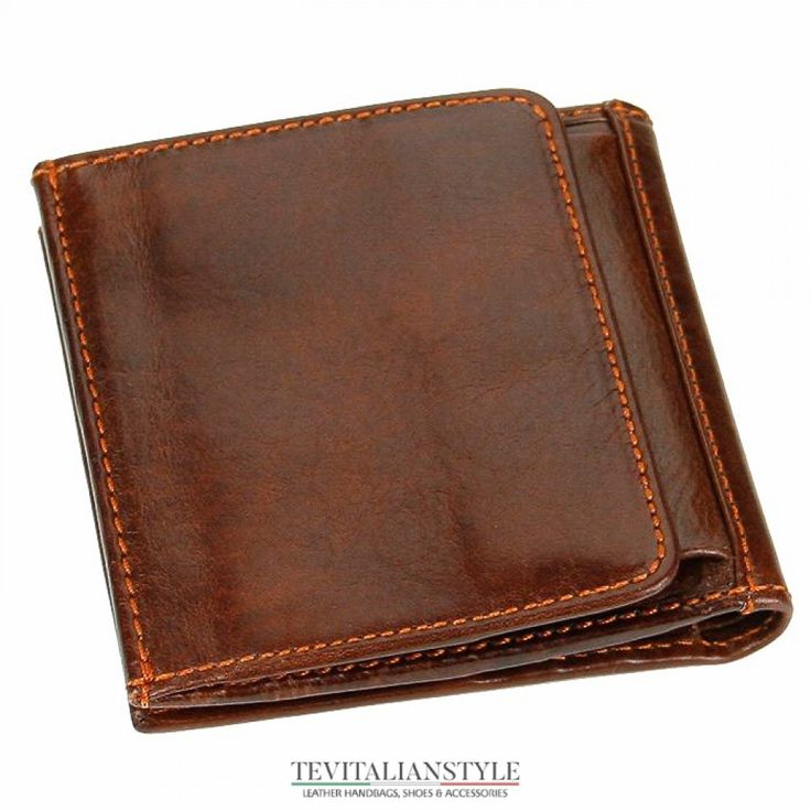 Chiarugi small men's leather wallet coins credit cards holder
