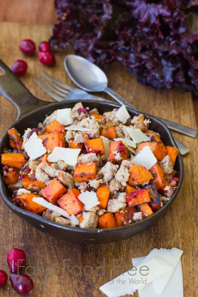 Turkey Red Lettuce Wraps with Sweet Potatoes and Cranberries | Fake Food Free | Grain free and gluten free with lean protein!