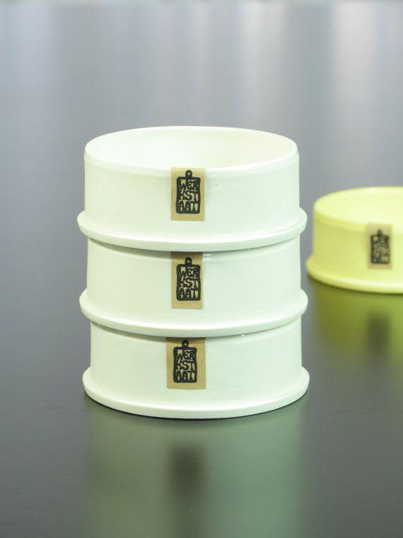 Modern porcelain bowl minimalistic kitchen ware by WerkStaat