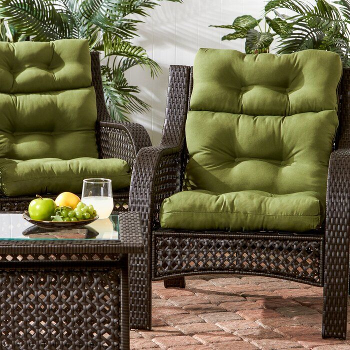 Sarver Indoor/Outdoor Seat/Back Cushion in 2020 Outdoor