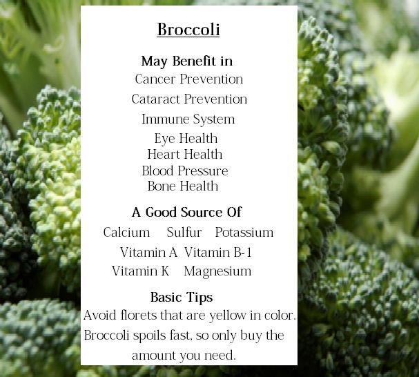 Broccoli Benefits   Eating My Way To Better Health.....which is easy because I LOVE broccoli!