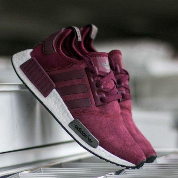Adidas NMD R1 Cashmere Skin Runner Schuhe Rotwein beliebt