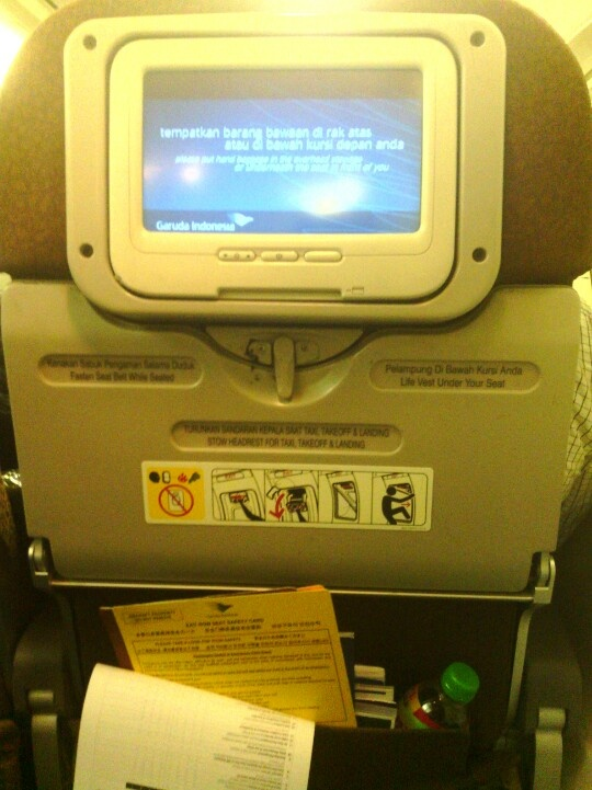 Back sit on Garuda Indonesia