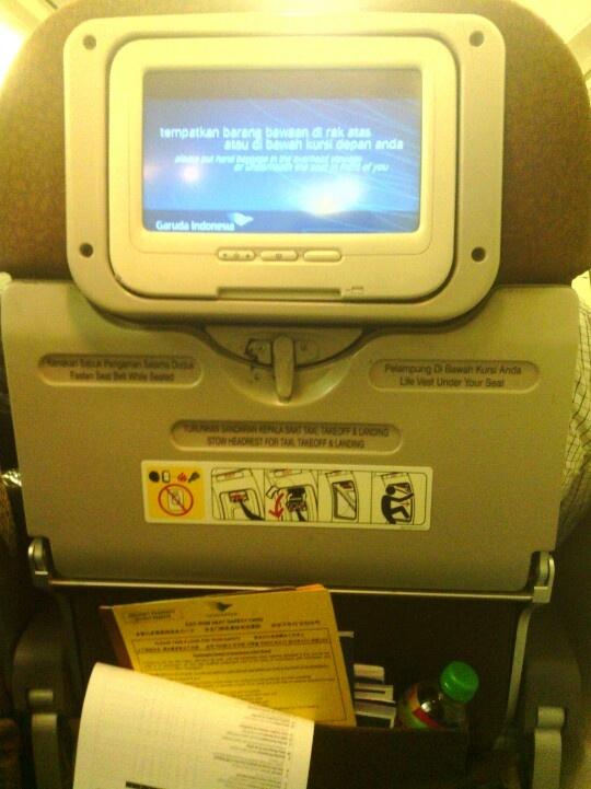 Back sit on Garuda Indonesia