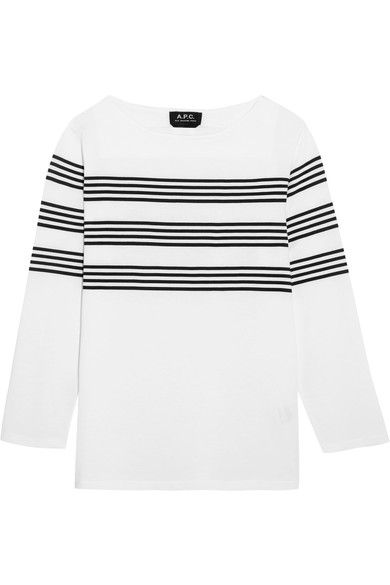 Black and white cotton-jersey Slips on 100% cotton  Dry clean Imported
