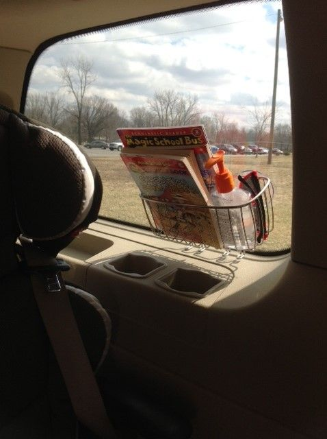Shower caddies - good idea for road trips so there isn't a billion things on the floor/seats
