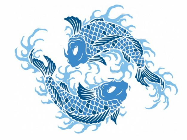 1000 images about vectors on pinterest paint splats for Koi fish vector