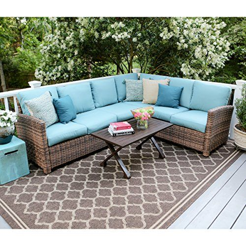 Comfortable And Built For The Outdoors The Dalton Corner Sectional Adds  Stylish Extra Seating To Your