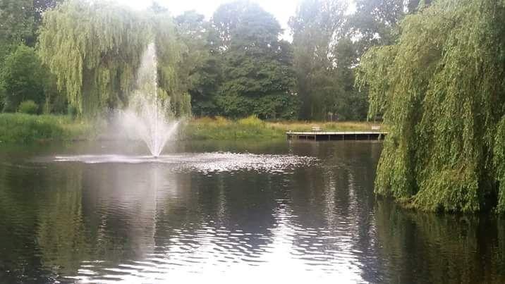 De fontein van Park de Watertoren, relaxplekje.