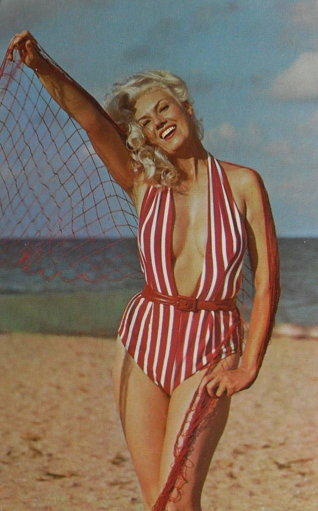 1950s 1960s Woman Beach Swimsuit Bikini Pinup Cheesecake ...
