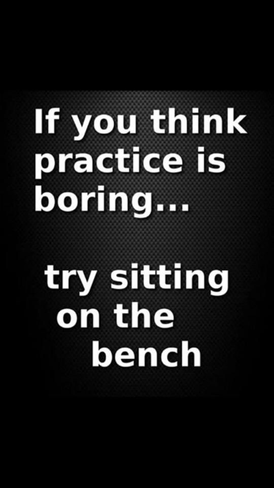 Perfect practice makes perfect! The only difference between practice and a game is the shirt you're wearing.  #playhard