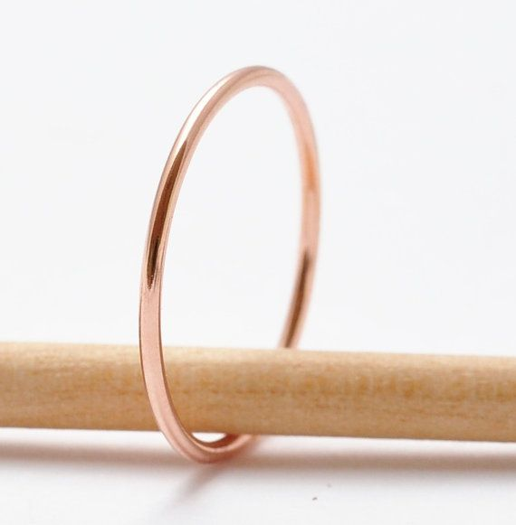 Rose Gold Stack Ring Everyday Simple Thin Ring Rose Gold Stackable 14K Gold Filled Ring Minimalist Stacker Small Ring Summer Fashion