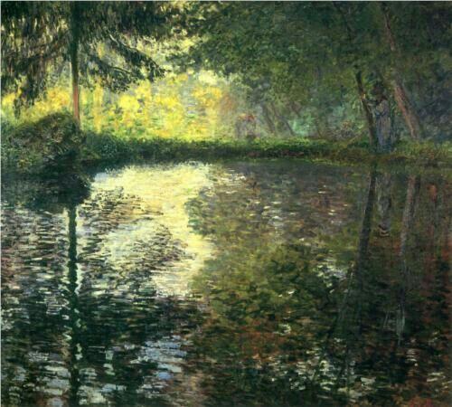 """The pond at montgeron"" Monet"