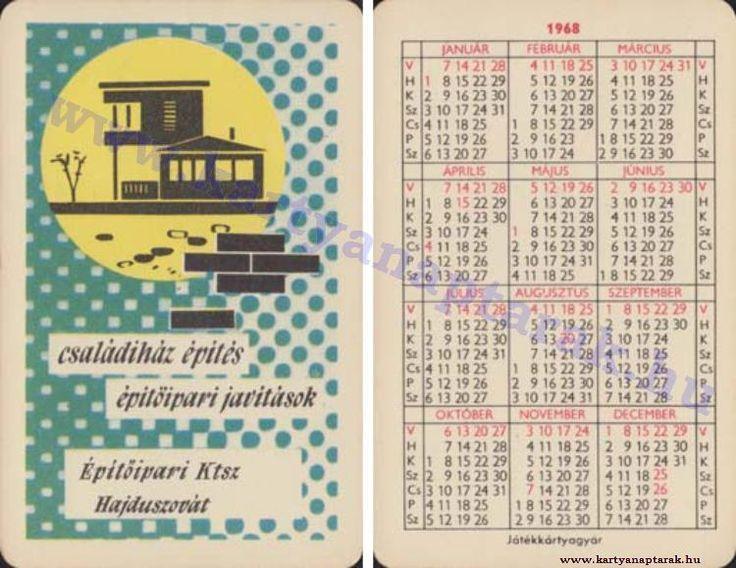 1968 - 1968_0227 - Régi magyar kártyanaptárak