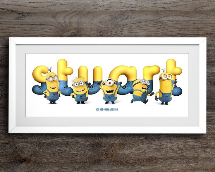 Personalised Minion Name / Minion Gift / Minion Name Art / Nursery Wall Art / Name Sign / Childrens Plaque / Baby Room Decor / Name Art