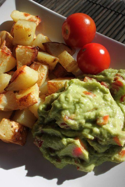 Guacamole og bagte kartofler