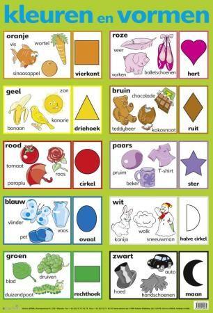 Kleuren en vormen poster