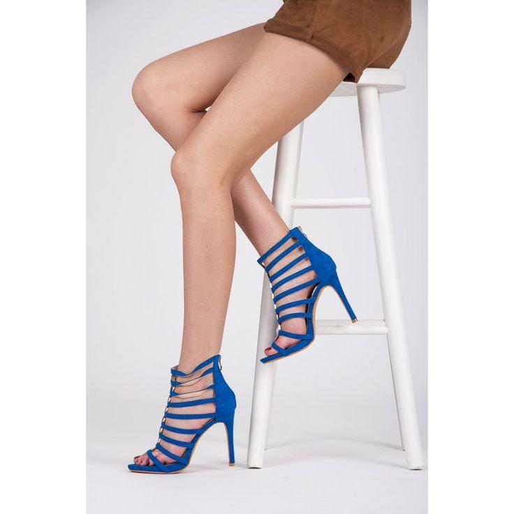 Rzymianki na szpilce Blue - Modne buty, Stylowe ubrania