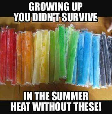 I can't survive the WINTER without these! Freezies make a day better. I like to melt it and drink the juice.