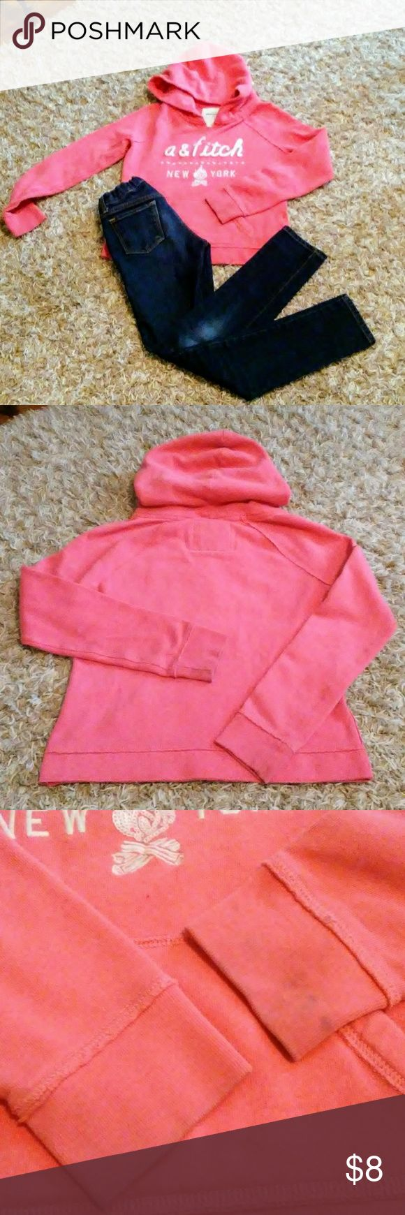 *Abercrombie kids Girls Hoodie Sz 10 BUNDLE TO SAVE 15% *also eligible for buy 4 get 1 offer  Girls size 10 hoodie Abercrombie Seems like would fit a size 8 more since washings **see pics for staining around cuff abercrombie kids Shirts & Tops Sweatshirts & Hoodies