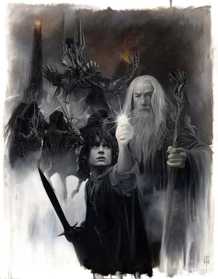 Lord of the Rings - Mordor Days: Frodo, Gandalf, and the Witch King of Angmar by David Stoupakis *