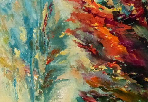 paysage automnal avec les couleurs typiques de l'automne en foret