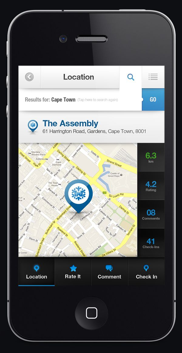 Castle Lite / Extra Cold Finder iOS/Android Application by Emile Rohlandt, via Behance