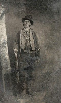 American outlaw William H. Bonney, aka Billy the Kid, was born William Henry McCarty Jr. in 1859. Lew Wallace placed a bounty on his head in 1881, contributing to his folk hero status.