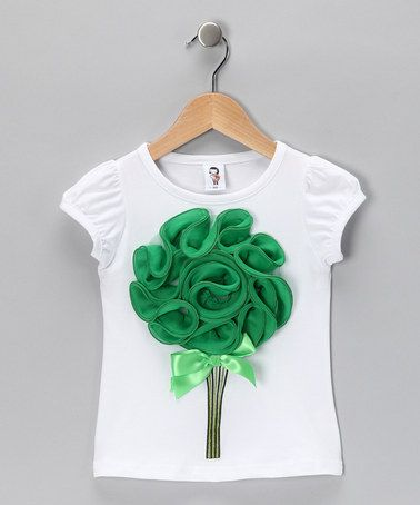 Take a look at this White & Green Bouquet Tee - Toddler & Girls by 2 Crystal Chicks on #zulily today!