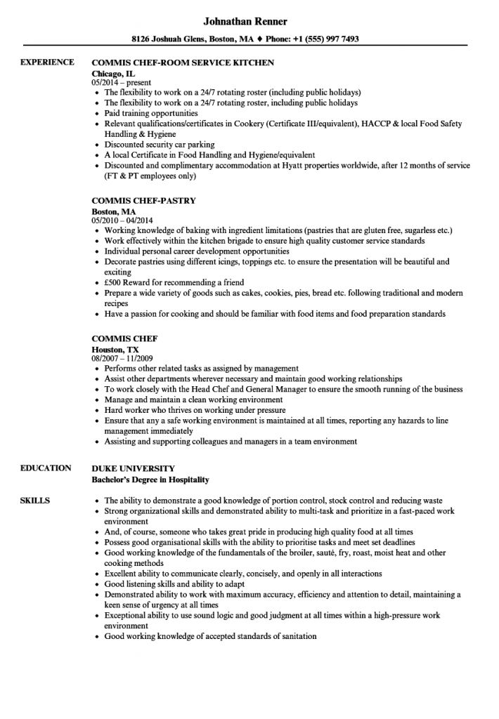 Commis 3 Resume Examples 2021 In 2021 Resume Examples Chef Resume Resume Format
