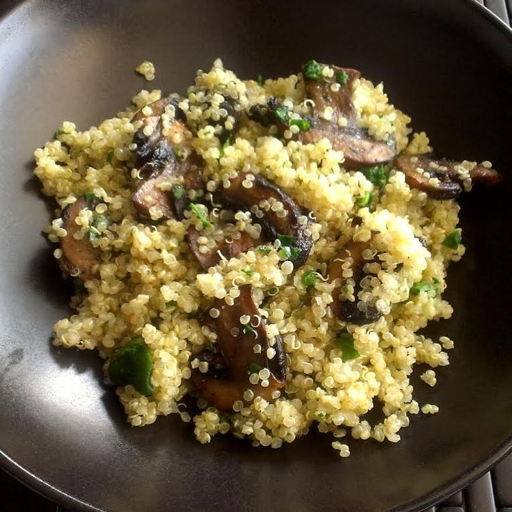 cup quinoa, cooked - Baby portabella mushrooms, sliced & sauteed ...