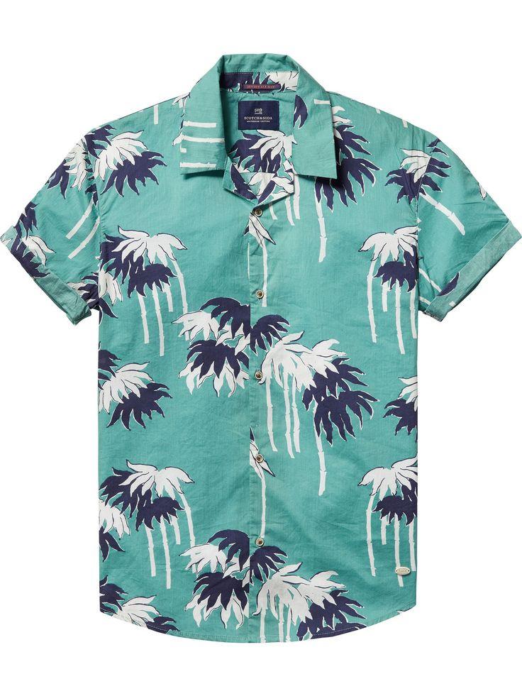 Printed Hawaii Shirt   Shirts ss   Men Clothing at Scotch & Soda