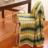Free crochet - Harlequin pattern throw