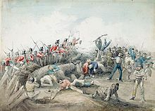 Eureka Rebellion led by Peter Lalor resulted in the deaths of at least 27 people, the majority of whom were rebels, it was the most significant conflict in the colonial history of Victoria. Read more on wikipedia >> http://en.wikipedia.org/wiki/Eureka_Rebellion