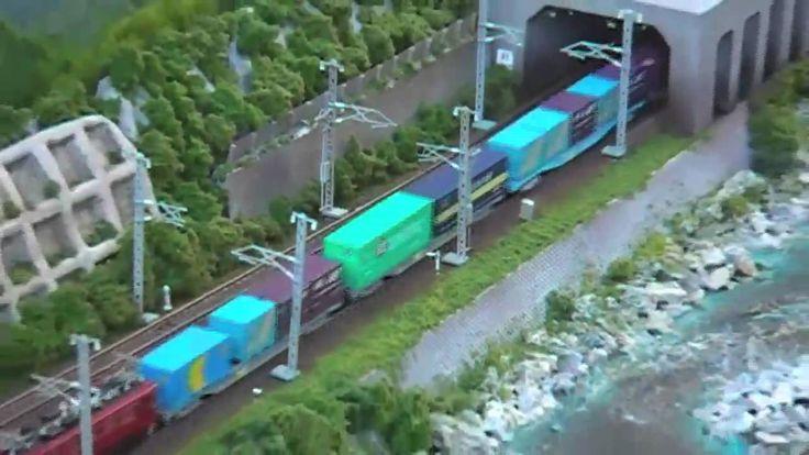 Nゲージ鉄道模型 コンテナ貨物 HD版