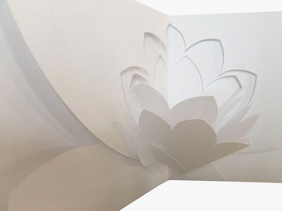 Lotus flower pop up card by StudioValeriaGirardi on Etsy