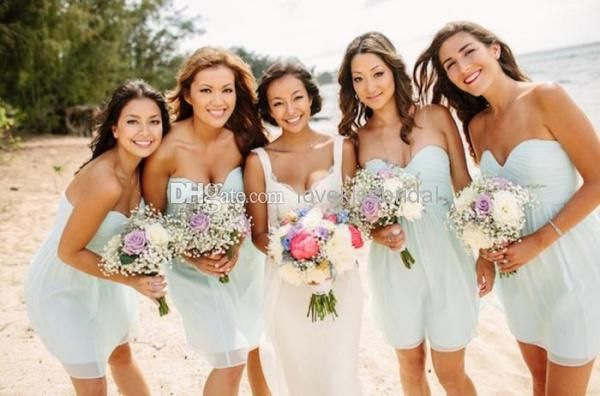 Wholesale cheap bridesmaid dress online, all size - Find best simple elegant cheap bridesmaid dresses custom made sweetheart backless pleats short chiffon bridesmaid dress beach wedding evening gowns at discount prices from Chinese bridesmaid dress supplier on DHgate.com.
