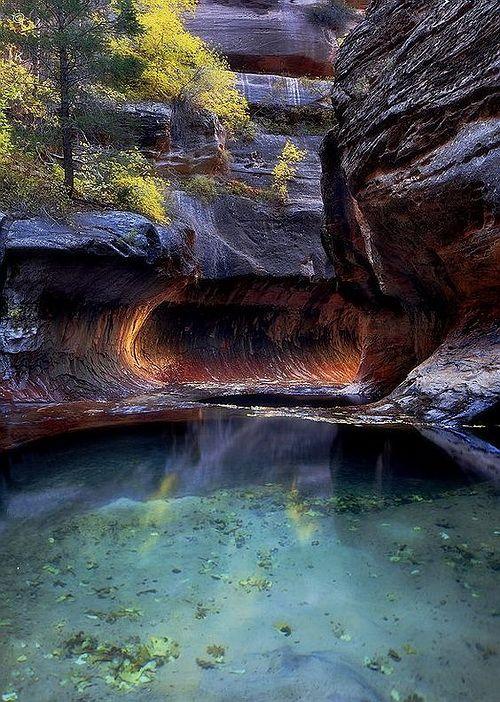 Pool of Hope, Zion National Park, Utah, USA