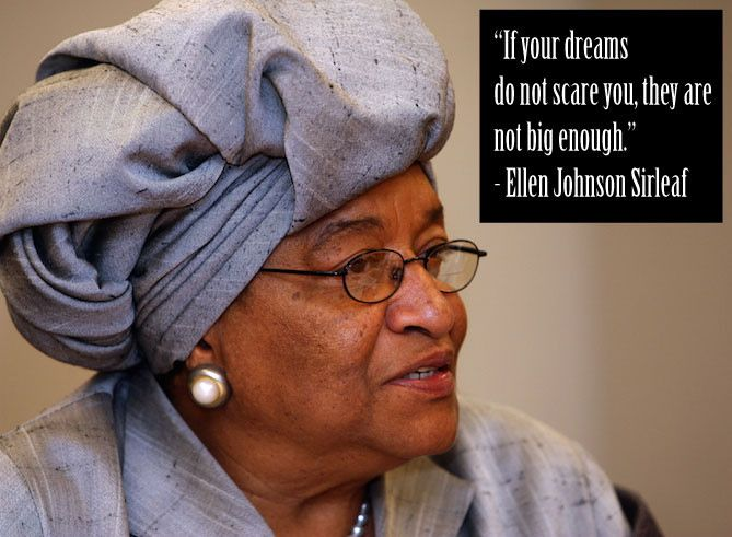 "Known as Africa's ""Iron Lady"", Ellen Johnson Sirleaf was the first female head of state on the continent of Africa."