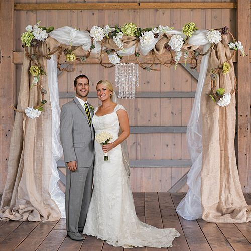 Rustic Wedding Arch With Burlap: 25+ Best Ideas About Rustic Wedding Archway On Pinterest
