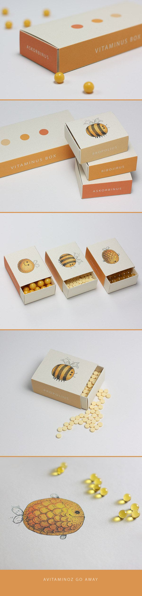 The cutest vitamin boxes imaginable. | 34 Aggressively Cute Packaging Ideas You Need To See