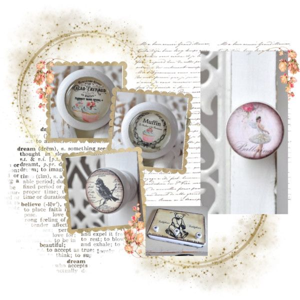 """Shabbyflair Door Knobs / Möbelknäufe im Shabby Chic"" by nice2shop on Polyvore"