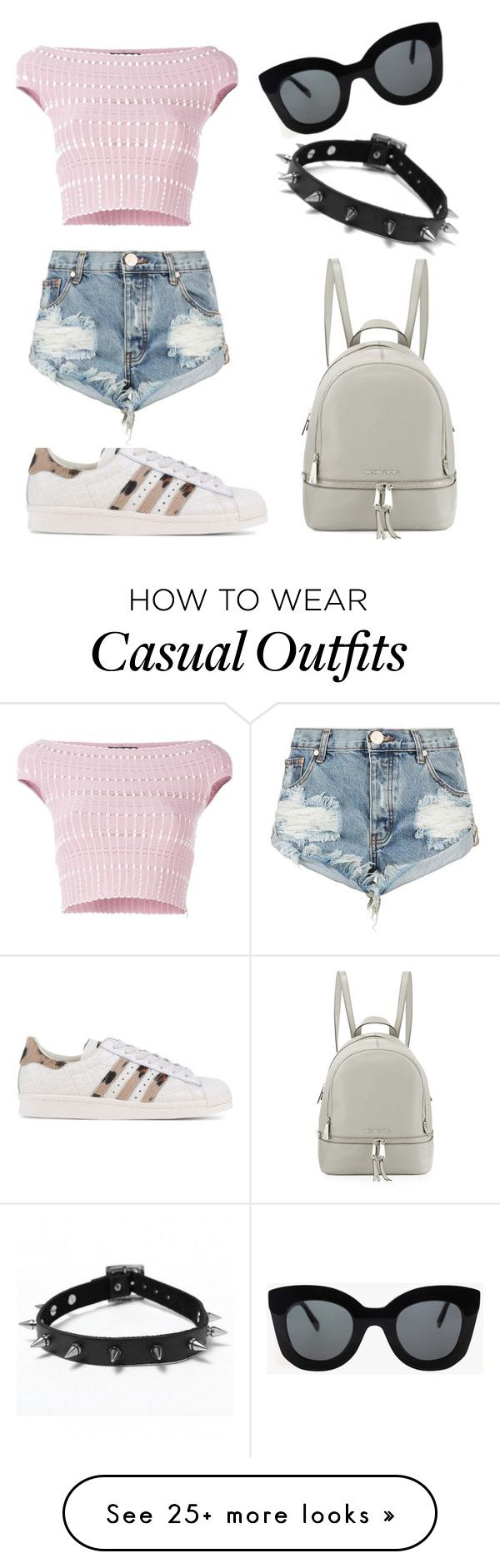 """Casual"" by alex-uh on Polyvore featuring Alexander McQueen, adidas Originals, One Teaspoon, CÉLINE and MICHAEL Michael Kors"