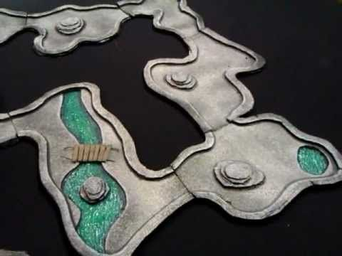 My Modular cheap and quick to make Cavern Tiles for D, Pathfinder RPG
