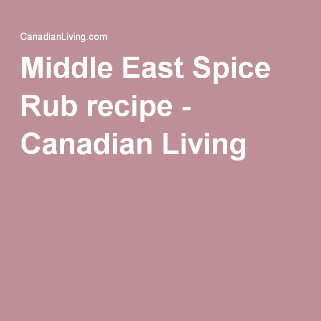 Middle East Spice Rub recipe - Canadian Living