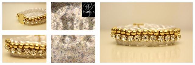 """""""ELISABETTA"""" Cordón de cristal con cuentas metálicas, cosido en su totalidad a mano.  One of a Kind  Exclusive by ZARINA"""