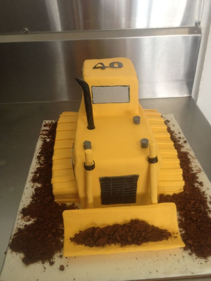 CAT bulldozer for a 40th cake The guys nickname is also 'dozer'